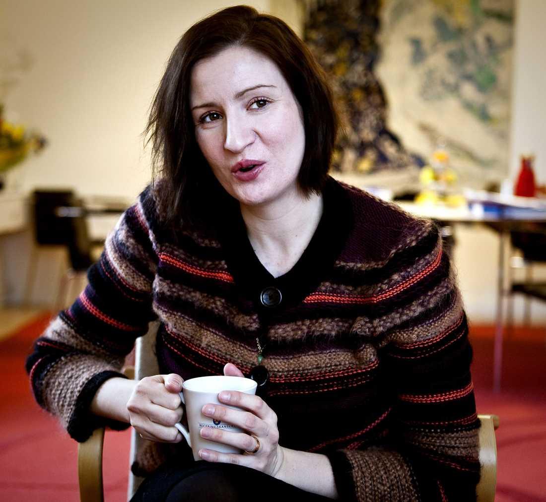 Birgitta Ohlsson, (fp) EU-minister.