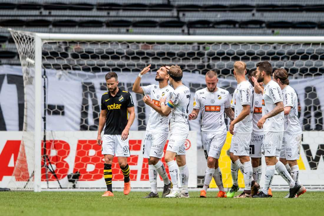Daleho Irandust blev matchens enda målskytt mot AIK.