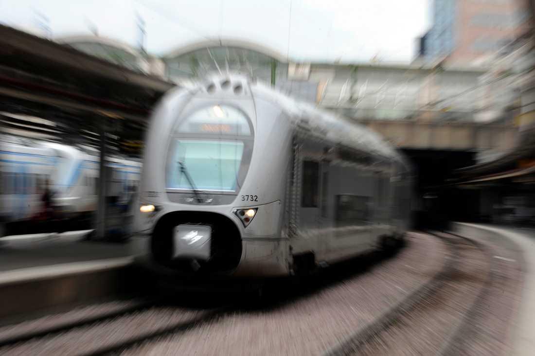 Dubbeldäcks tåg i SJ:s regi.