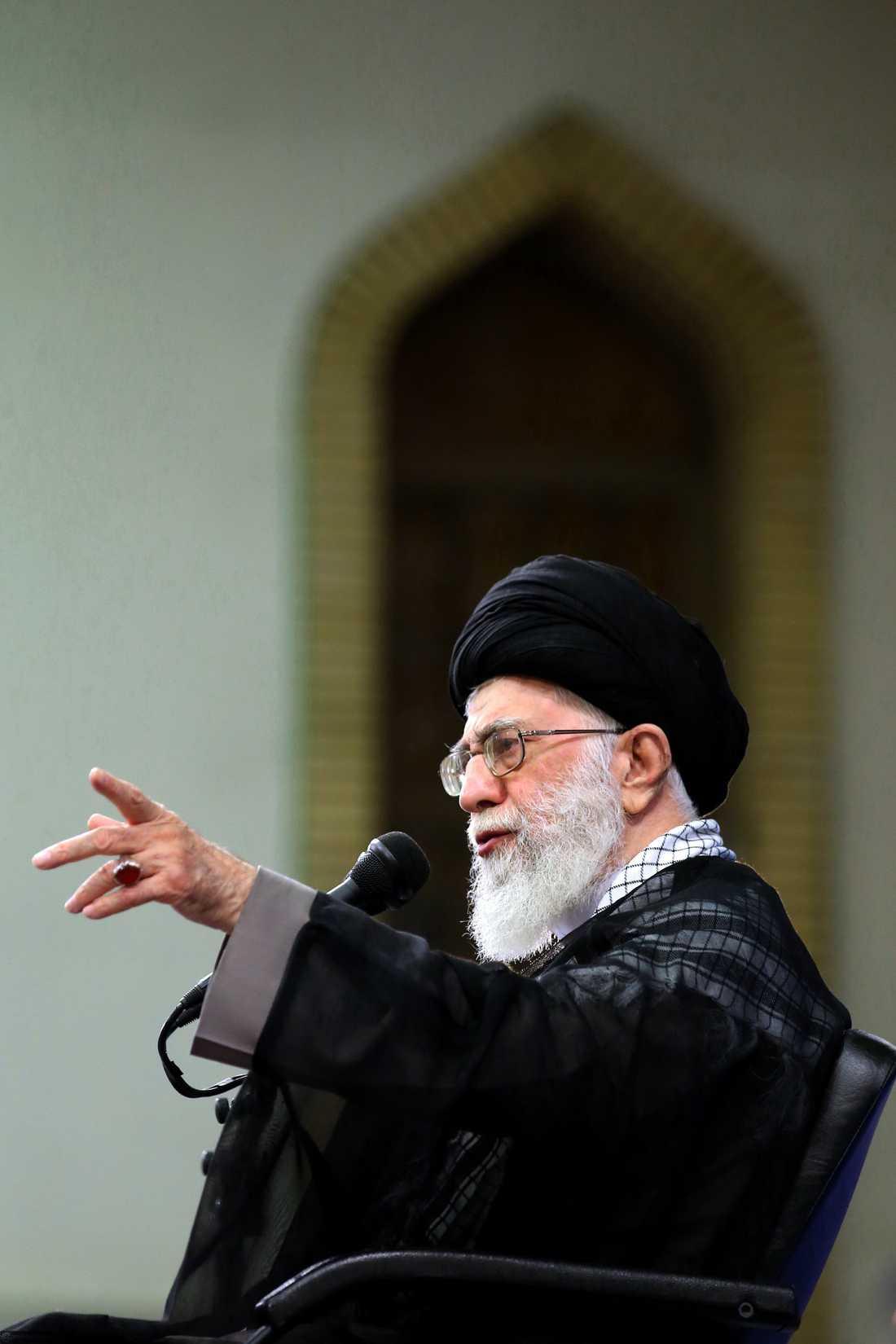 Irans ledare ayatolla Ali Khamenei.