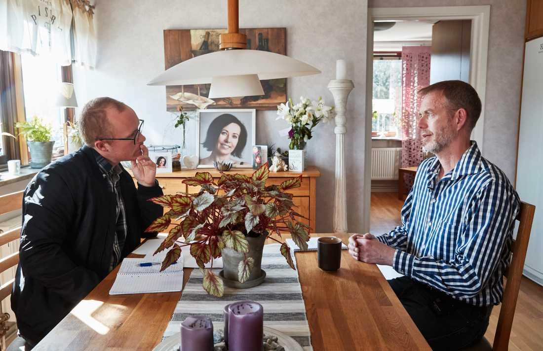 """""""När hon först berättade om vad hon ville göra kändes det bara overkligt"""", berättar Anders."""