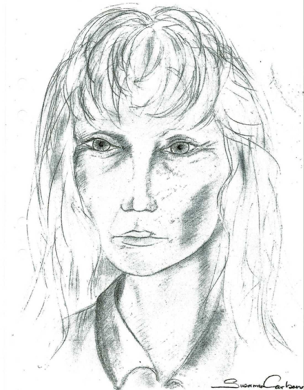 Fantombilden som släpptes i utredningen av mordet på Marie.