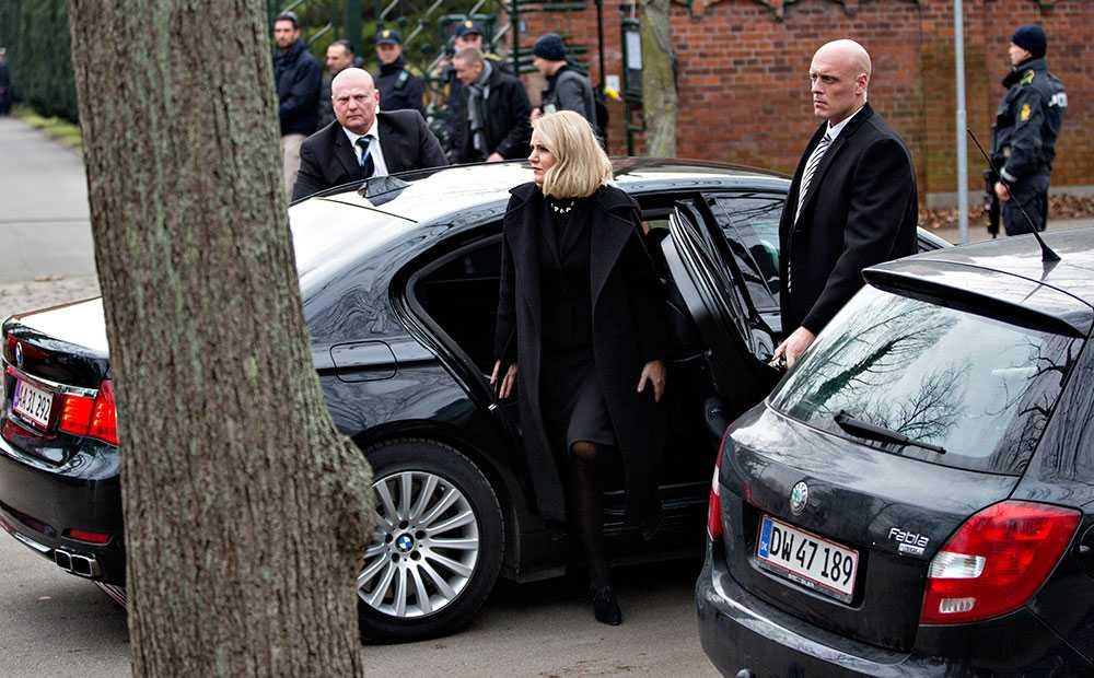 Danmarks statsminister Helle Thorning-Schmidt deltog vid begravningen.