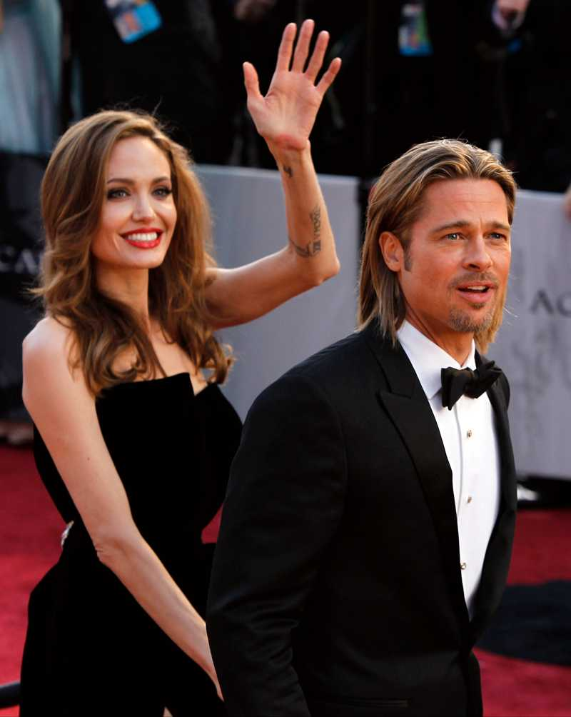 Paret anländer till den 84 Oscarsgalan.