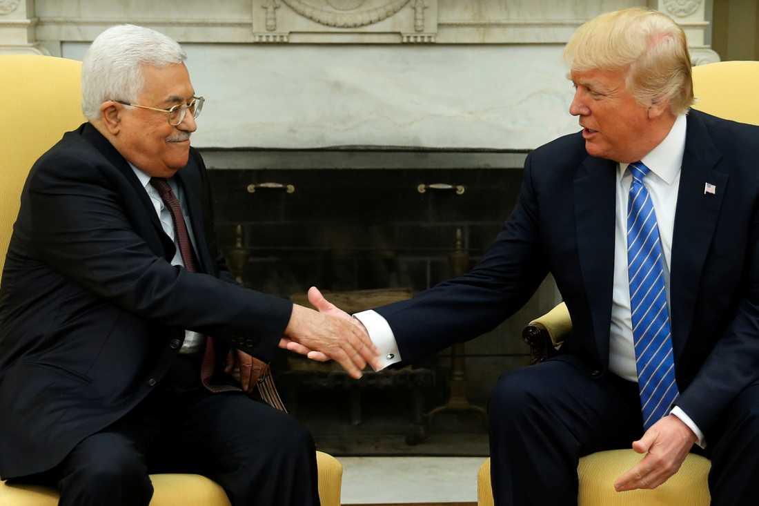 Mahmoud Abbas och Donald Trump 2017.