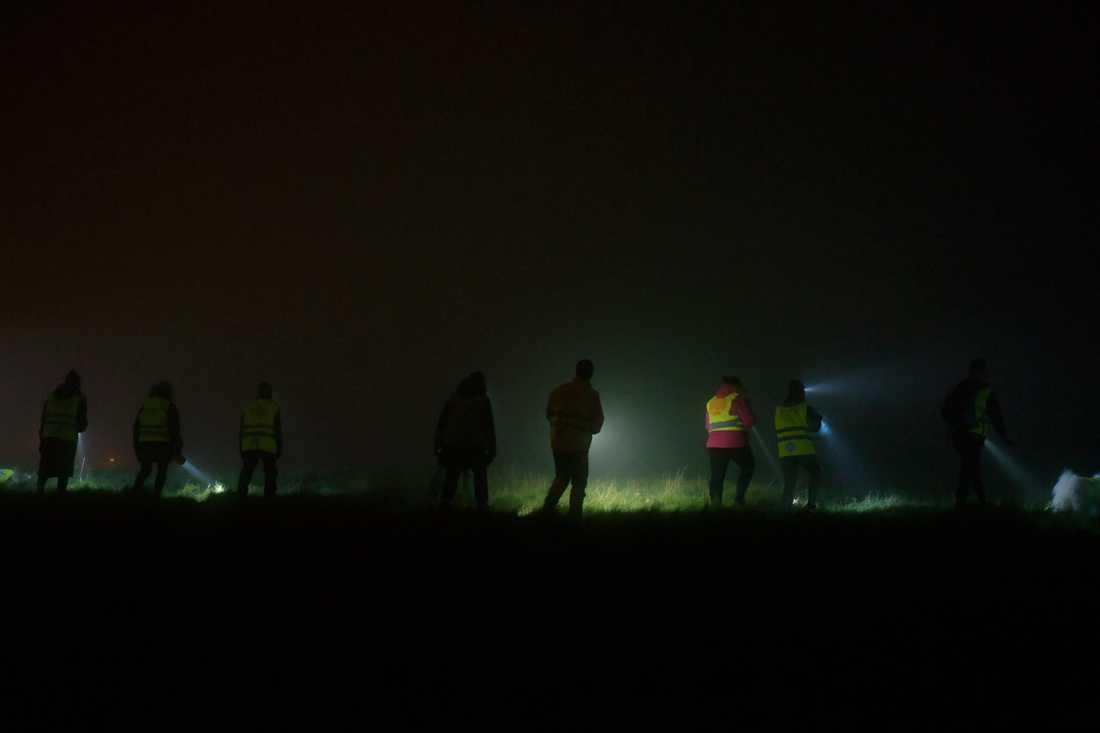 Missing People fortsatte sökandet efter Dante under natten mot fredag.