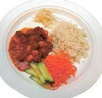Mellanstadiet Elever på mellanstadiet äter i genomsnitt 207 gram mat.