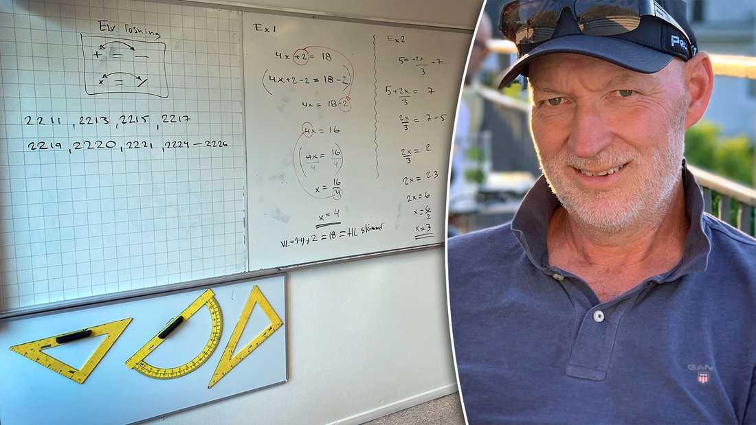 Mats Karlsson, 56, drabbades av hjärtstopp mitt under lektionen och föll samman framför eleverna.