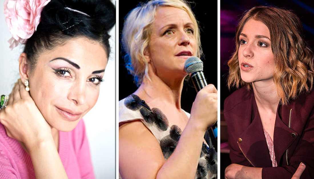 Flera kvinnliga komiker skriver under uppropet.