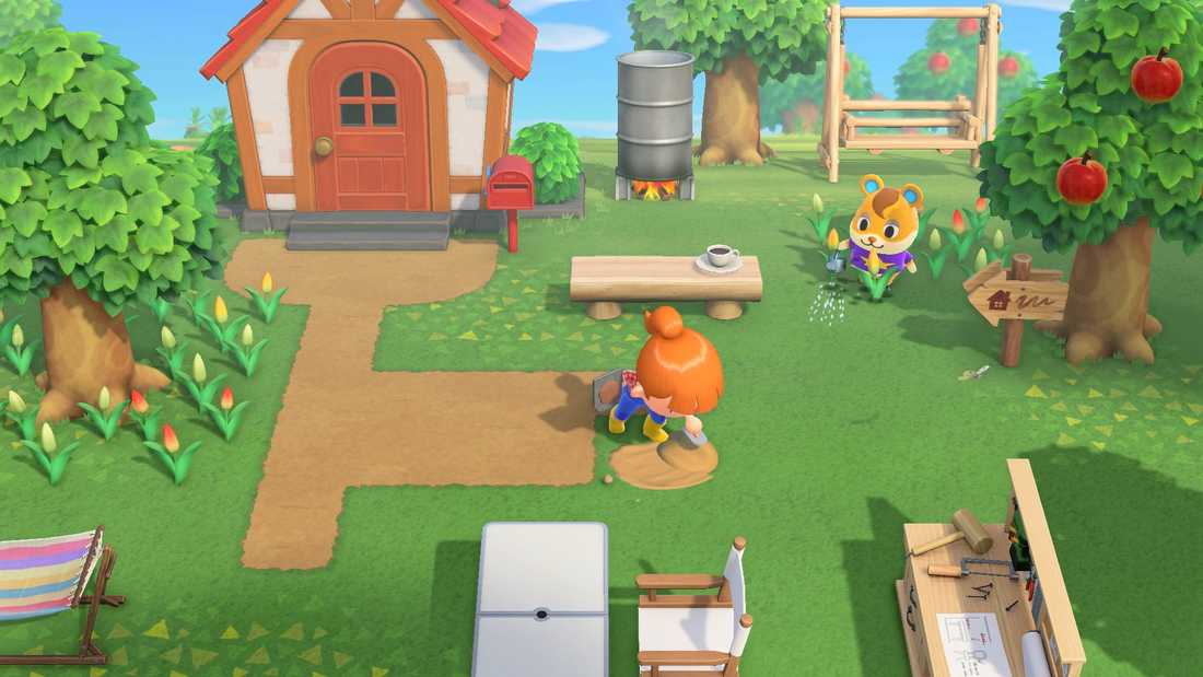 """""""Animal crossing"""" till Nintendos Switch är en försäljningssuccé. Pressbild."""