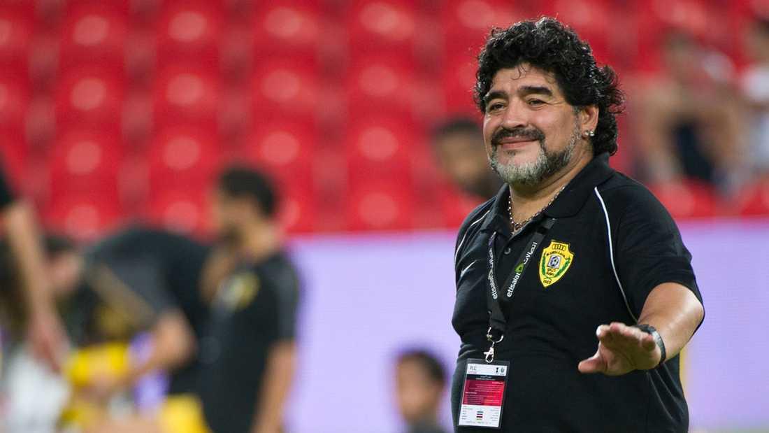 Diego Maradona kan ta över Irak.