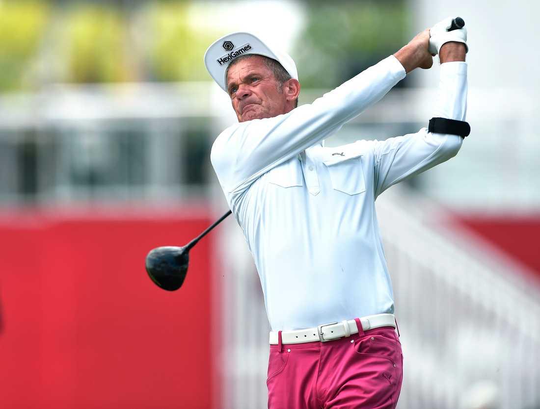 Jesper Parnevik vid Senior PGA Championship i maj i år.