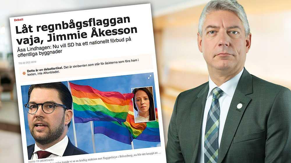 Prideflaggan är tyvärr inte längre enbart det som Lindhagen hävdar. Den har blivit ett varumärke för en politiserad aktör som smutskastar och förlöjligar människor med andra politiska uppfattningar, skriver Bo Broman (SD).