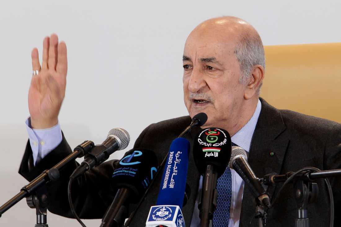 Algeriets nye president Abdelmadjid Tebboune dagen efter valet förra veckan. Arkivbild.