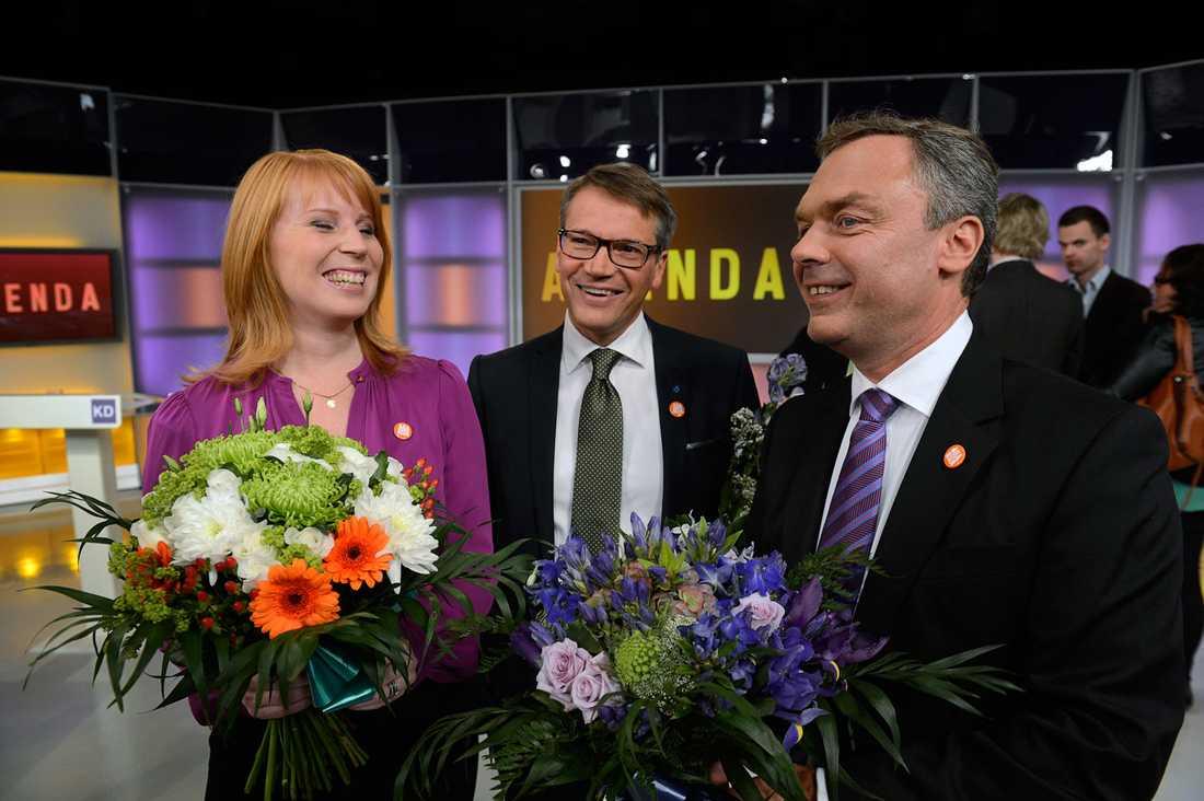 Lööf, Hägglund och Björklund.