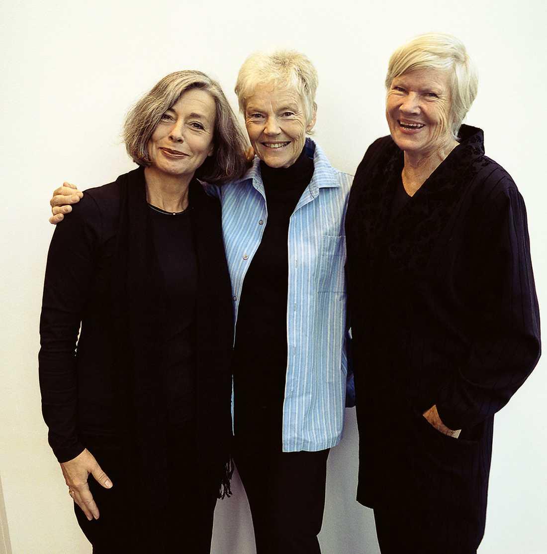 Åsa Moberg, Märta Tikkanen och Birgitta Stenberg brevväxlade i årtionden.