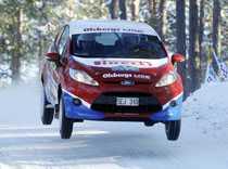 Victor Henriksson, här under Svenska rallyt, är enda blågula hoppet i Turkiet eftersom varken SWRC eller PWRC-klassen tävlar där.