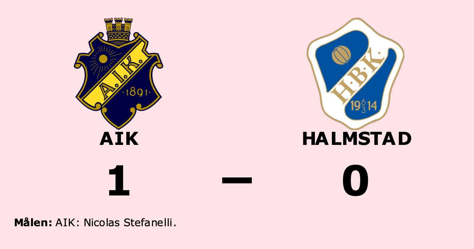 AIK vann uddamålsseger mot Halmstad