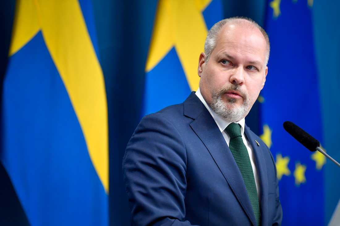 Justitie- och migrationsminister Morgan Johansson (S) vill införa ett nytt brott – utlandsspioneri. Arkivbild.