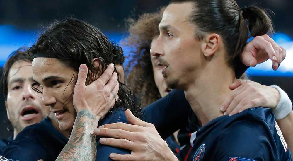 Cavani och Zlatan.