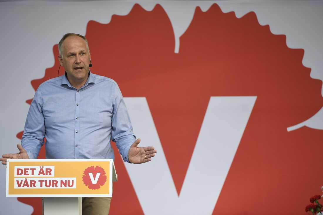 Vänsterpartiets Jonas Sjöstedt.