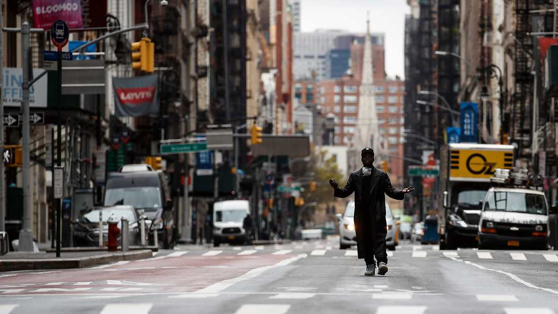 Broadway under coronakrisen har mest varit en deprimerande syn.