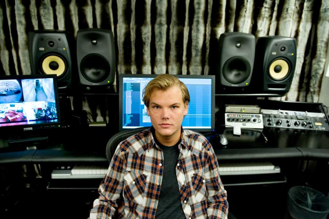 Tim Bergling i sin studio 2011.
