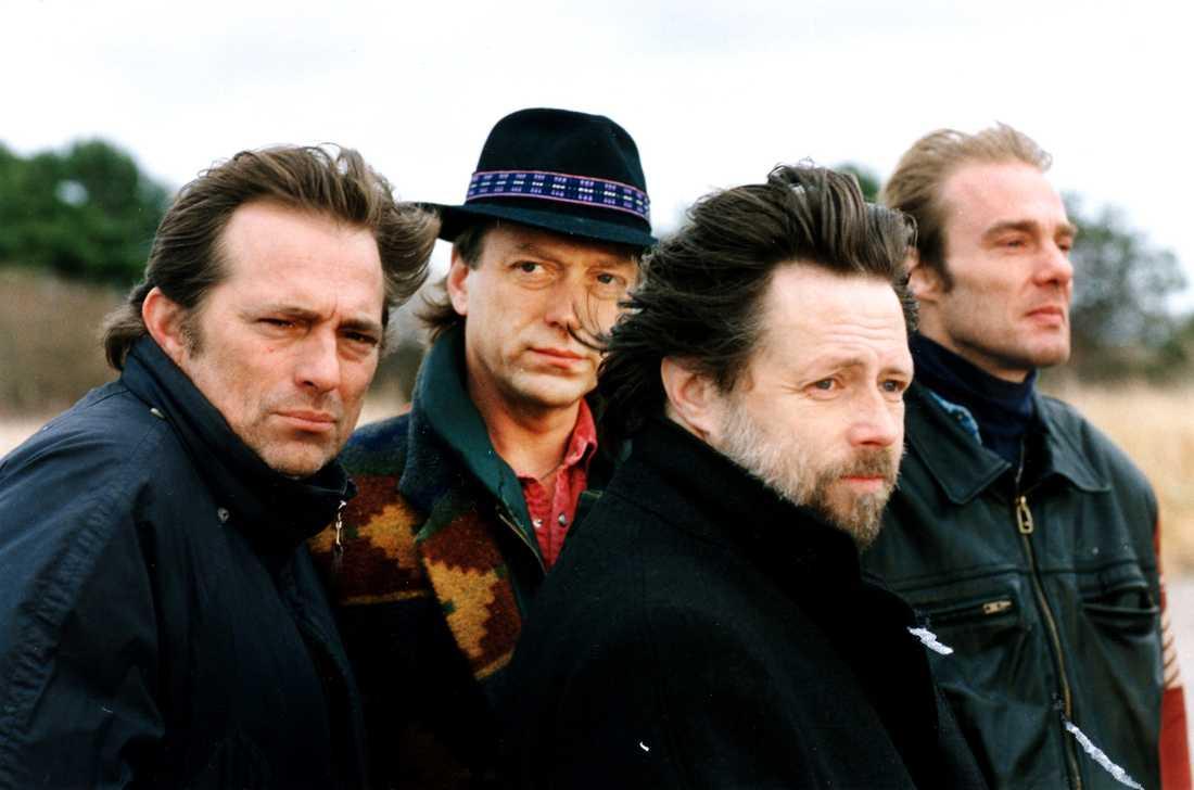 Mikael Rickfors, Pugh Rogefeldt, Göran Lagerberg och Magnus Lindberg. Fotograferade 1992.
