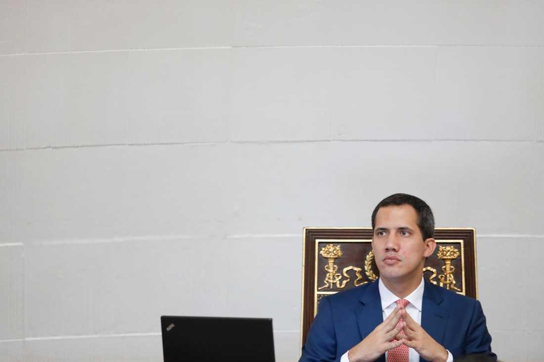 Juan Guaidó, oppositionsledare och självutnämnd president i Venezuela. Arkivbild.
