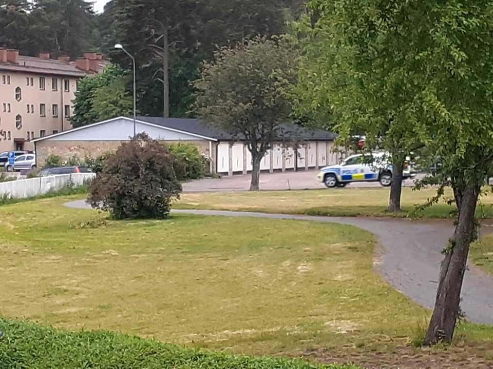 Polispådrag i Västerås.
