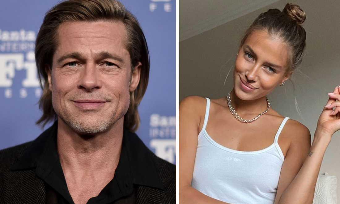 Brad Pitt och Nicole Poturalski.