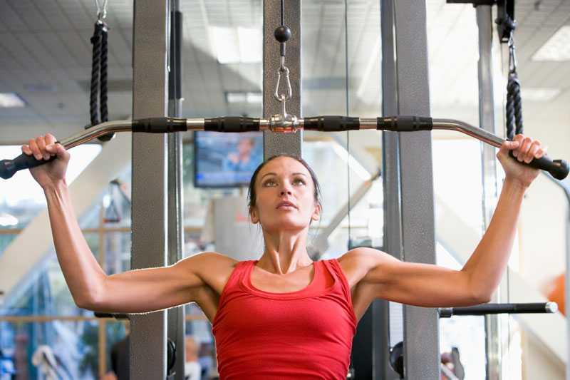 går upp i vikt vid träning