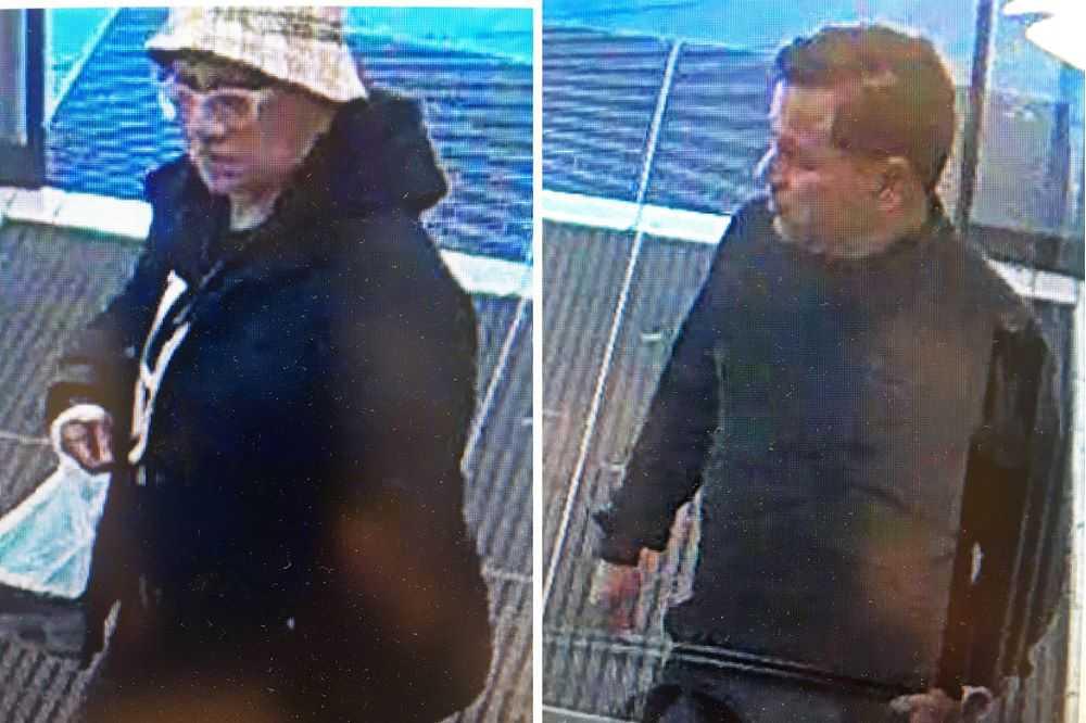 Polisen går i dag ut med övervakningsbilder på två misstänkta gärningsmän som i somras begick en fräck bluff i Skärholmen i södra Stockholm.