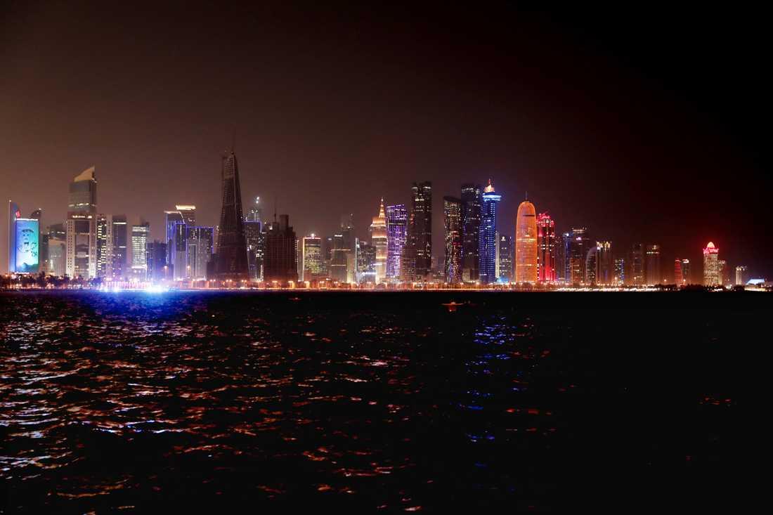 Doha i Qatar före virusutbrottet. Arkivbild.