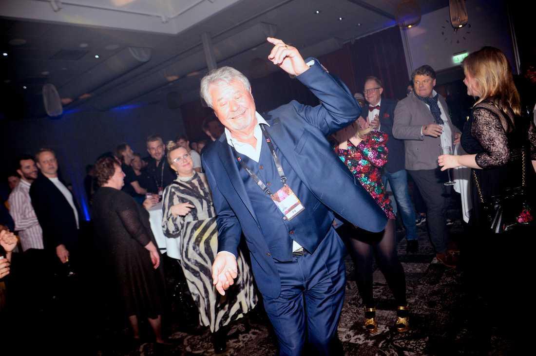 Percy Nilsson på dansgolvet.