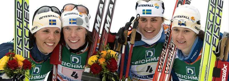 Charlotte Kalla, Lina Andersson, Anna Haag och Britta Norgren.