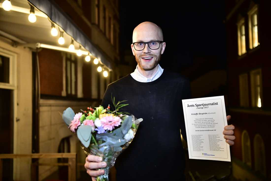 Sportbladets Kristoffer Bergström är Årets sportjournalist.