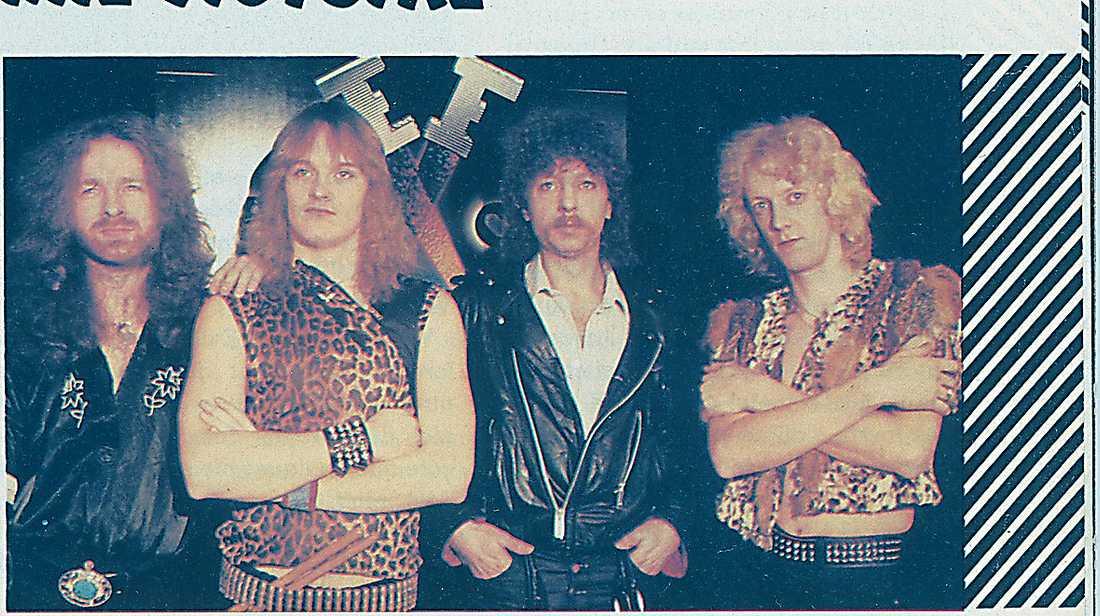 Bandmedlemmarna från vänster: Pär Ericsson, Dag Eliason, John Ridge och Bengt Fischer.