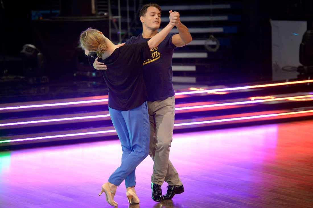 Tillsammans med danspartnern Maria Zimmerman.