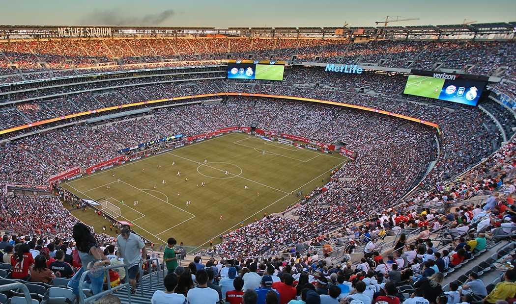 MetLife Stadium i New York, finalarenan om USA, Mexiko och Kanada får VM 2026.