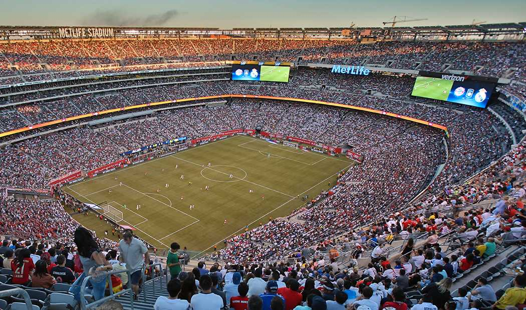 MetLife Stadium i New York, finalarenan om USA, Mexiko och Kanada får VM 2026.