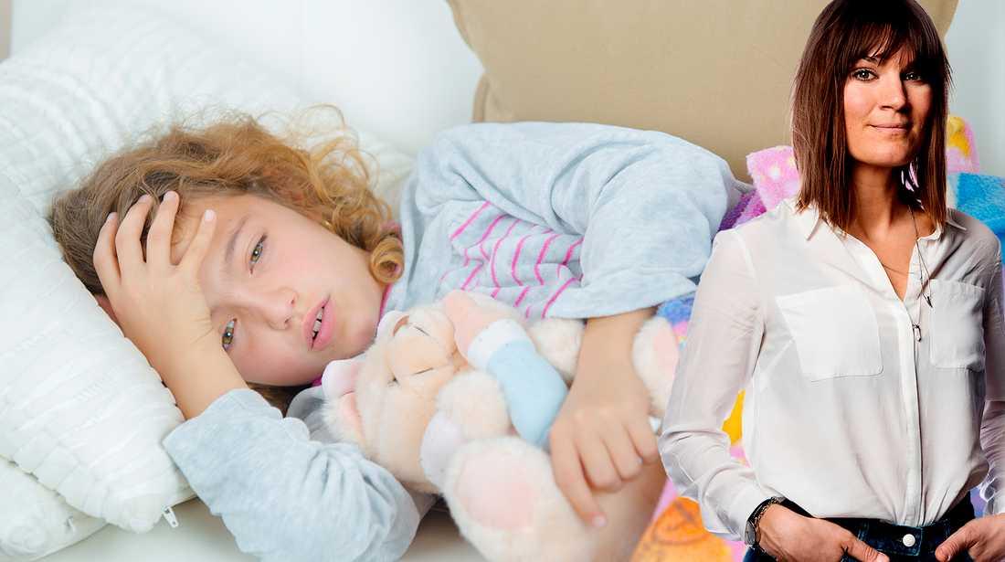 Malin Wollin skriver om att lämna magsjukt barn på förskolan.