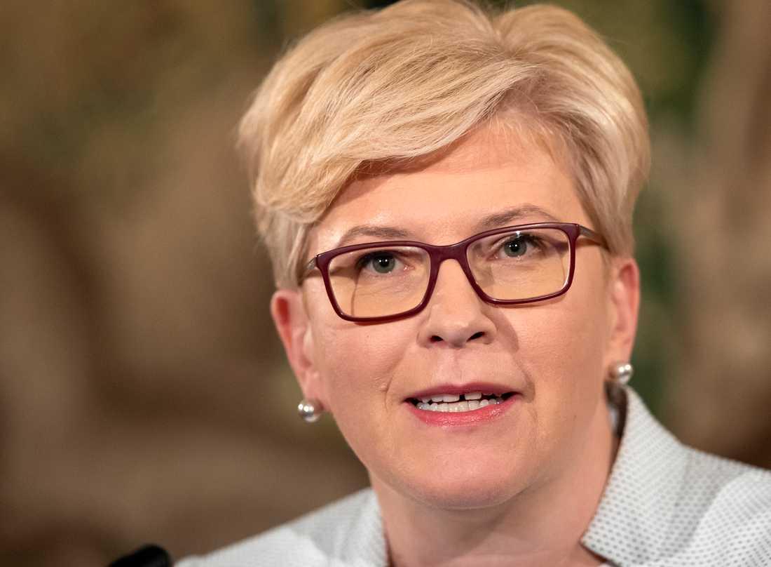 Ingrida Simonyte leder Litauens kristdemokratiska parti Fosterlandsförbundet. Arkivbild.