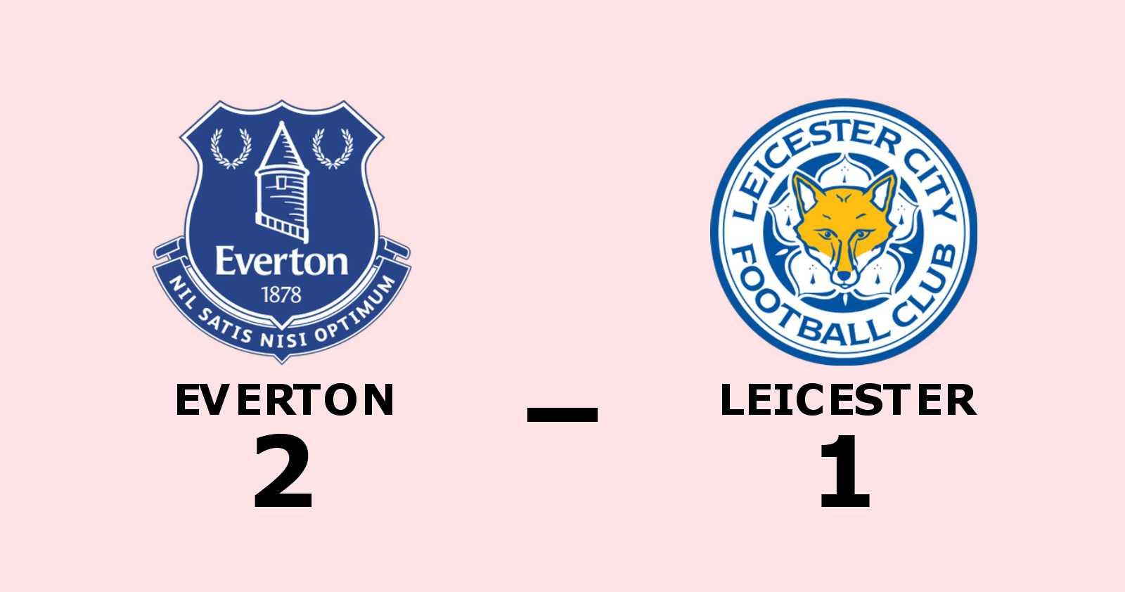 Seger för Everton efter tuff match mot Leicester