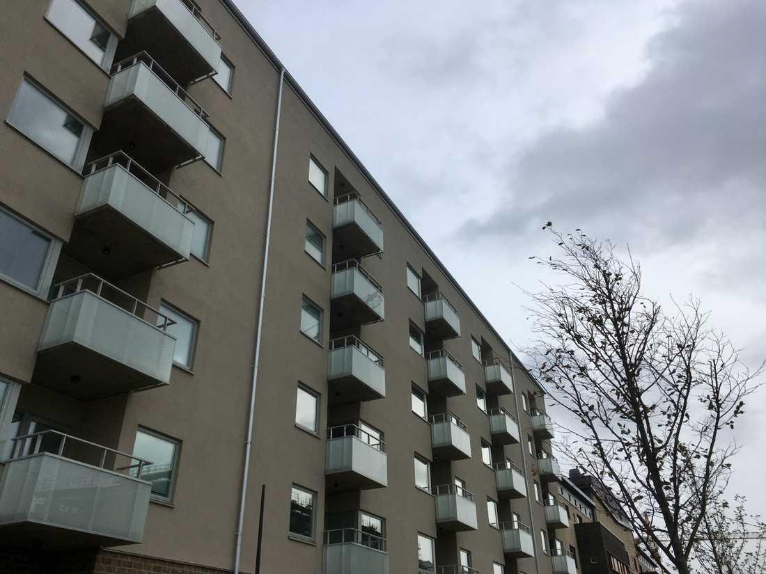 Nyproducerade lägenheter i Västra hamnen i Malmö.