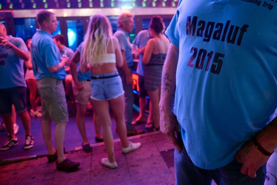 Turister i Magaluf på Mallorca. Arkivbild.