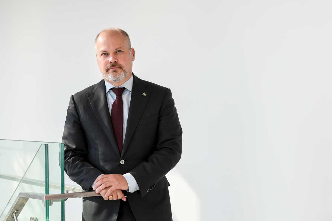 Justitie- och migrationsminister Morgan Johansson (S) vill strama åt reglerna för arbetskraftsinvandring, säger han till Sydsvenskan. Arkivbild.