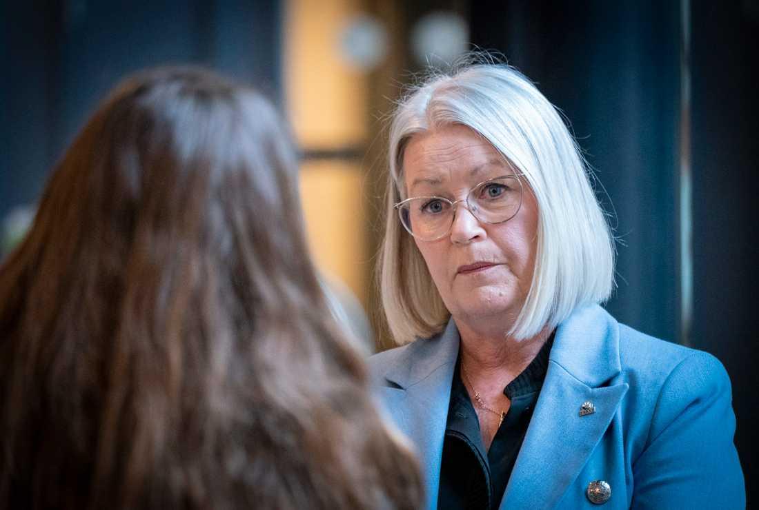 Pia Lundbom, hälso- och sjukvårdsdirektör, efter onsdagens presskonferens i Malmö.