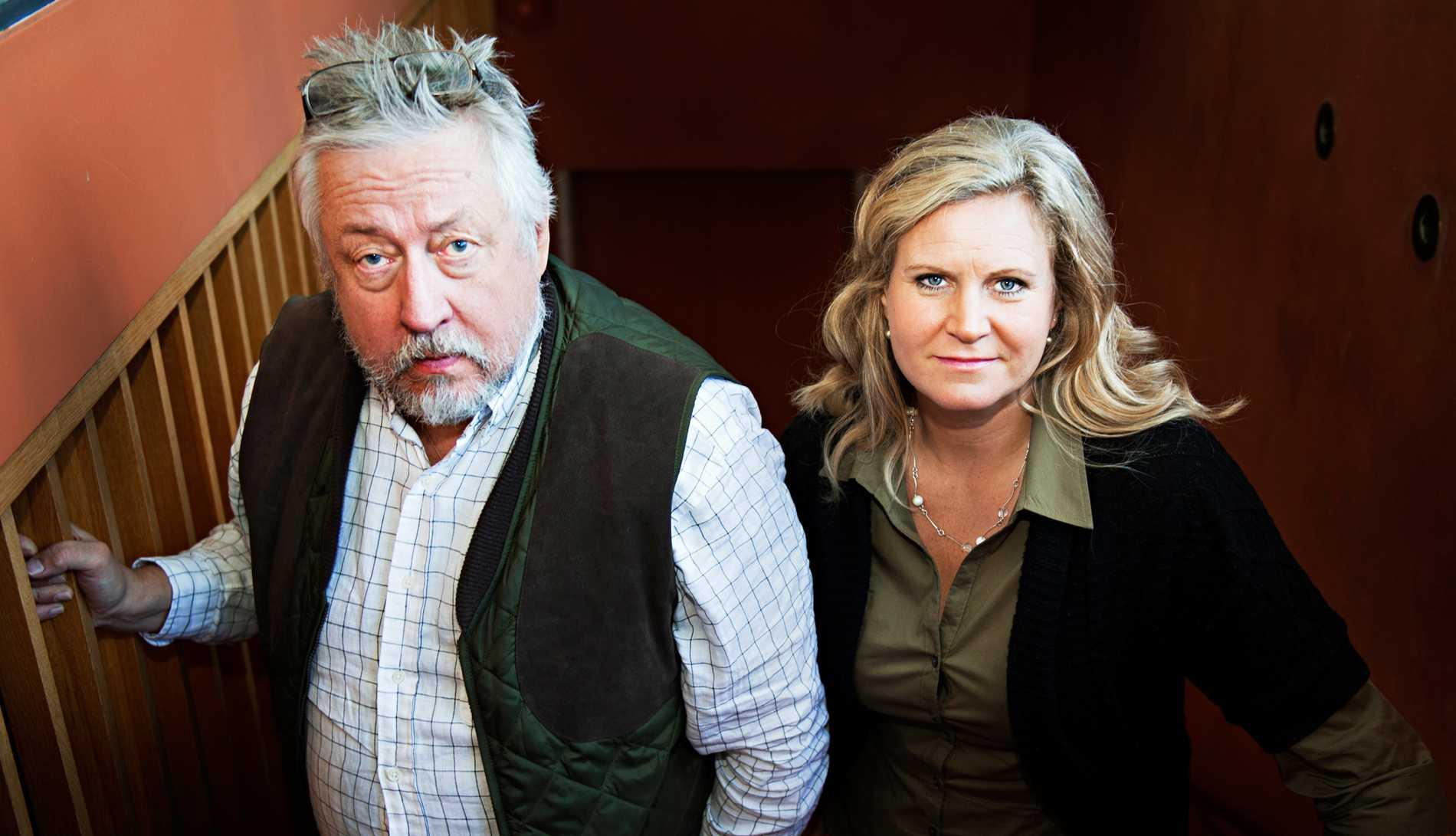 "Leif GW Persson med Camilla Kvartoft i ""Veckans brott""."