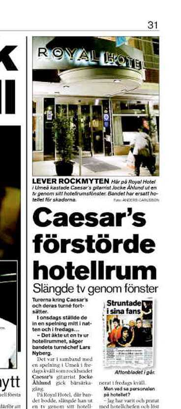 Aftonbladet den 10 april.